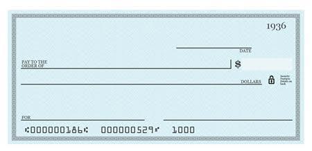 blank check